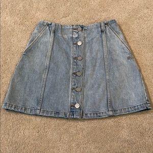 Aritzia Wilfred Free Denim Skirt